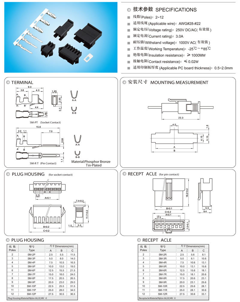 Jst Wire To Crimp Housing Terminal Connector Sm Series25mm Automotive Wiring Harness Pin Styles Cable Connectors Electrical Connectorelectric Connectorcable Terminationelectrical Wiringconnectors Manufacturerwiring Accessoriesconnectorplug